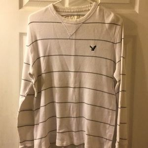 Striped American Eagle Thermal Long Sleeve